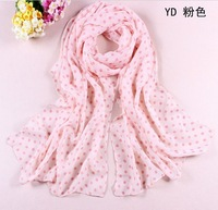 3pcs wholesale Korean women fashion new floral dot Chiffon scrafts Shawl Wrap 160*50cm  free shipping