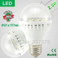 2.5W  led bulb lamp light bulbs bubble ball bulb Scrub warm white led e27 b22  bulb leds energy saving Spot light lamp 61x107mm