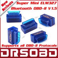 2013 New Release SUPER MINI ELM327 Bluetooth OBD2 V1.5 Smart Car Diagnostic Interface ELM 327 Wireless Scan Tool Best Qualtiy
