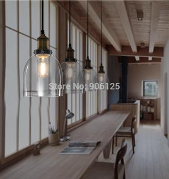 Nordic IKEA Retro Pendant Light Glass Bell Pendant Light Fixture Used in  Living room Bedroom Inc Edison Bulbs +Free shipping!