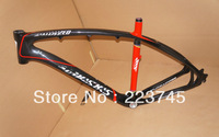 Full Carbon mtb Frame 26er Black White Pianting 16 18 20 inch BSA EMS Free Shipping