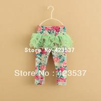 5 pcs/lot,Baby Girls pants,net yarn princess pantskirt,girl skirt leggings,3 colors,floral leggings