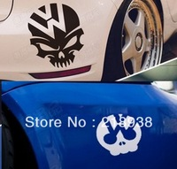 Free shipping   fashion  reflective car skeleton sticker for volkswagen for  fuel tank cap or anywhere of the  car body N-381