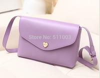 Hot Sale Heart Women Leather Handbags Cross Body Shoulder Bags Fashion Messenger Bags 5 Colors Available 23*5*17cm
