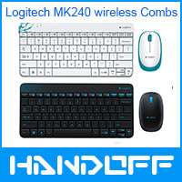 Logitech MK240 wireless keyboard Mini Keyboard and Mouse Combos logitech keybaord mouse+a limited mousepad(China (Mainland))