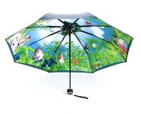 Totoro umbrella double layer sun protection umbrella anti-uv hinggan umbrella super sun 50 sun umbrella