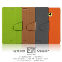MOFI leather case for Nokia Lumia 720 - escape series, with stents rollover functionality, free shipping