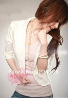 2013 new Korean Style fashionable blazers 2--colors for choice white and black Free Shipping suits for women