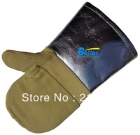 New 700 Centigrade Heat Resistant Caston Gloves !! 100% Aramid Fiber Aluminum Foil  Heat Resistant HPPE Work Glove