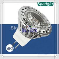 Retail 2pcs High Power 1x3W led spot light bulbs MR11 3W Warm White 3000K 12V