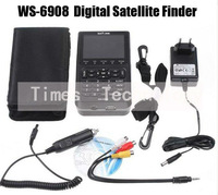 3pcs/lot Satlink WS6908 DVB-S FTA digital satellite finder meter WS6908,WS-6908,free shipping