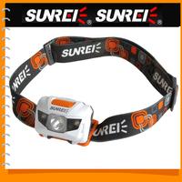 Sunree 1200Lm Bright Waterproof Cree LED Headlamp Headlight Handy Motile LED Head Light Lamp for Outdoor Cycling + AAA Battery