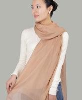 New Fashion Beautiful 100% Pure Silk Chiffon Long Ladies Scarf Shawl