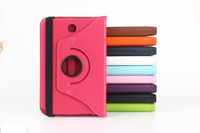 Free Shipping 360 Degree Rotating PU Leather Stand  Case Back Cover For Samsung Galaxy Note 8.0 For N5100 5110 10Colors