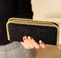 2013 New wave Queen leopard horse hair Leopard Long  Clutch card package women lady girl Wallets purse card free shipping