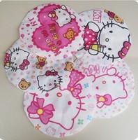 Free Shipping Kawaii Cartoon Hello Kitty Waterproof Eco-Friend Shower Cap Bathroom Cap Retail