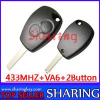 pcf7947 chip 433mhz  2 Button  remote  Key  for  Renault  kangoo Megane  laguna