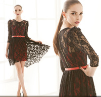 2013 new arrival Gorgeous and sexy beauty  lace two-piece princess skirt dress women party dresses J015
