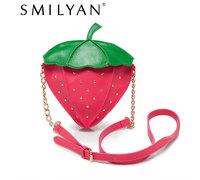 Free shipping! Smilyan 2014 new arrival cartoon fruit Mini strawberry bag women small fresh bag across body bag shoulder bag