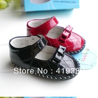 Quality baby shoes slip-resistant outsole genuine leather soft toddler shoes mirror leather princess  shoes children shoes