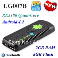 UG007B RK3188 Quad Core Android TV Box TV Stick Dongle 2G RAM Bluetooth HDMI 2GB RAM 8GB ug007 IIB DLNA Free shipping