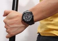 Casima Mens Marine Sports Watch Luminous Chronograph Calendar Quartz Wristwatch Stainless Steel Watches Hours For Men WWM0045