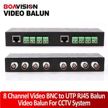CCTV 8CH Channel Passive Video BNC to UTP RJ45 Balun CAT5 Camera DVR Balun