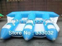 2PCS HIGH QUANLITY Inflatable water toys flyfish banana boat Plato PVC tarpaulin (CE/UL) air pump