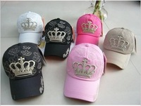 Baseball caps and fashion hat made of pure cotton leisure crown cap