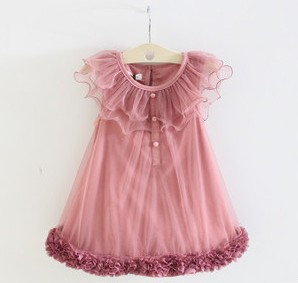 freeshipping 2013 summer Korean version children girl princess baby sleeveless Flounced veil evening dress tutu lace mini flower(China (Mainland))