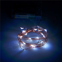 Multicolor 2M 20 Lights Holiday LED Battery String Lights,X'mas Decoration Fairy Light With Copper Wire