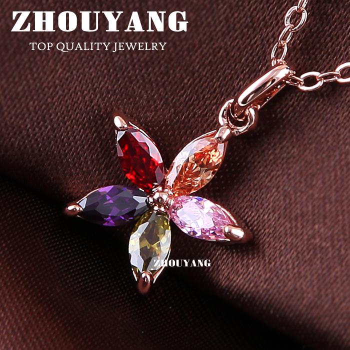 Rose Gold Color Zyn245 Color Flower 18k Rose