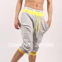 Free shipping 2013 new men's sports pants hit the color waist-high quality sports pant 3 color S-XXL