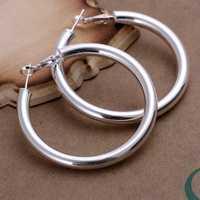 Free Shipping Wholesale 925 Sterling Silver Earring,925 Silver Fashion Jewelry,5mm Hollow Earrings SMTE149