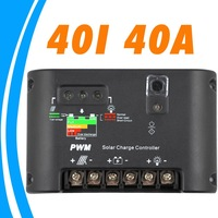 40A 40I Solar Charge Controller 12V 24V auto switch Solar Battery Charge and Discharge controller Regulator