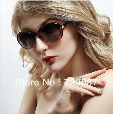Hot Sunglasses women's 2013 vintage gradient polarized sunglasses big box trend sunglasses elegant glasses Free shipping(China (Mainland))