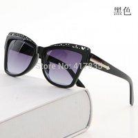 2014 New Hot Female Star Brand Fashion women Sunglasses Retro lady Cat's Eye  Polarized UV Sunglasses For Women