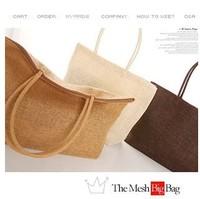 One shoulder big innumeracy straw beach bag woven bag