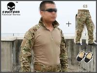 Emerson G3 Combat uniform shirt & Pants & knee pads Military Army uniform MultiCam suit