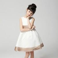Flower Girl Dress 2014 Bow Princess Elegant Evening Dress Girls Pageant Dresses High Quality    y1857