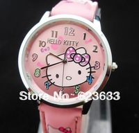 alibaba express new 2013 10pcs/lot free shipping New Hello Kitty Watches ladies women good quality best gift for kids watch