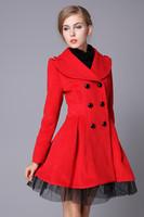 100% Good quality ! Cashmere coat /2013 new women's cashmere fabrics Ms. coat winter coat
