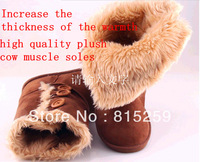 2013 New Fashion Three button snow boots 1873 enhanced plush button boots snow boots cow muscle men's boots women's boots