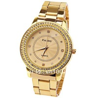 2013 New Product luxury Fashion goods Lady brand  gold Diamond quartz  watch for women wedding gift Relogio