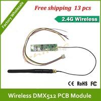 DHL Fast Free Shipping PCB wireless R/T dmx rgb led controller
