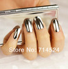 FREE SHIPPING,240pcs/lot, 2013 NEW Fashion Nail Art 3D Decoration, Minx Gold and Silver Shiny Full Cover Nail Tips