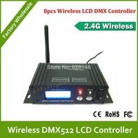 DHL Free Shipping  LCD Digital Display 2.4G Wireless DMX Receiver/Transmitter light stage light effect lighting