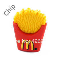 New arrival Mcdonald's PVC/ Rubber  Chips shape Usb Flash Memory Stick / Drive/ Disk 1GB 2GB 4GB 8GB 16GB 32GB 64GB  available