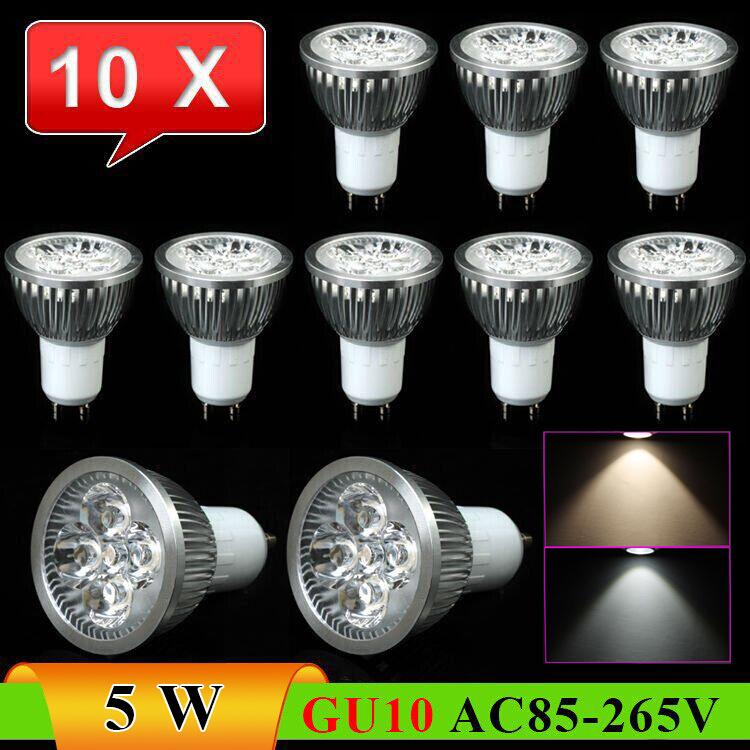 10pcs/Lot GU10 5W 500lumens Energy-Saving High Bright LED Downlight Spotlight-------Limited Time Offer(China (Mainland))