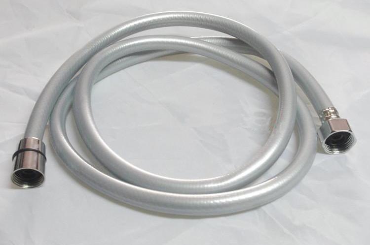 1.5m Silver gray Plating PVC Shower hoses PVC shattaf hoses Free shipping(China (Mainland))